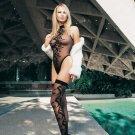 2 Pc. Swirl Jacquard Teddy And Matching Stockings