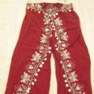 Red Belly Dance Top & Pant Set -- V0292