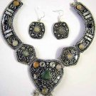 Tribal Earrings & Necklace Set -- CS0726