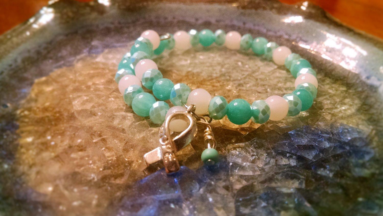 Calmness [Turquoise/Teal Awareness Bracelet w/ Hope Charm] #742