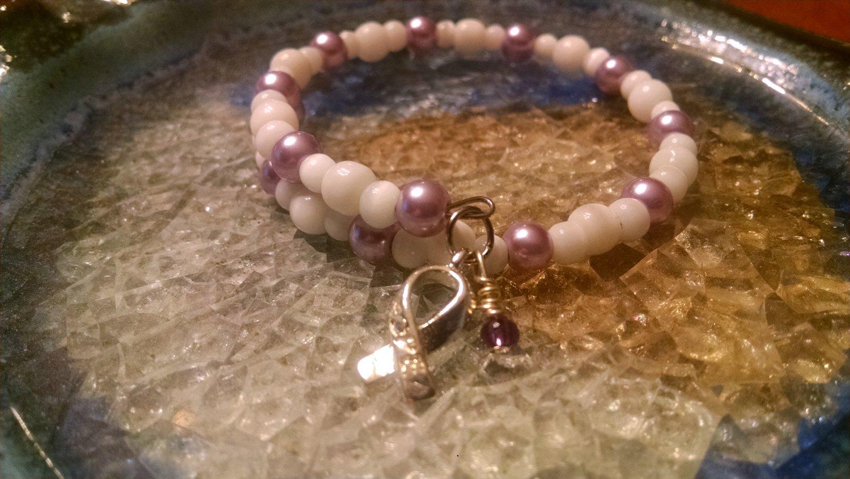 Breathe [Purple Awareness Bracelet w/ Hope Charm] #742