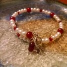 Beauty [Red Awareness Bracelet w/ Hope Charm] #742