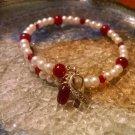 Beauty [Red Awareness Bracelet w/ Hope Charm] #742