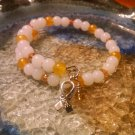 Cheerful [Yellow Awareness Bracelet w/Hope Charm] #493