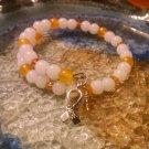 Cheerful [Yellow Awareness Bracelet w/Hope Charm] #493