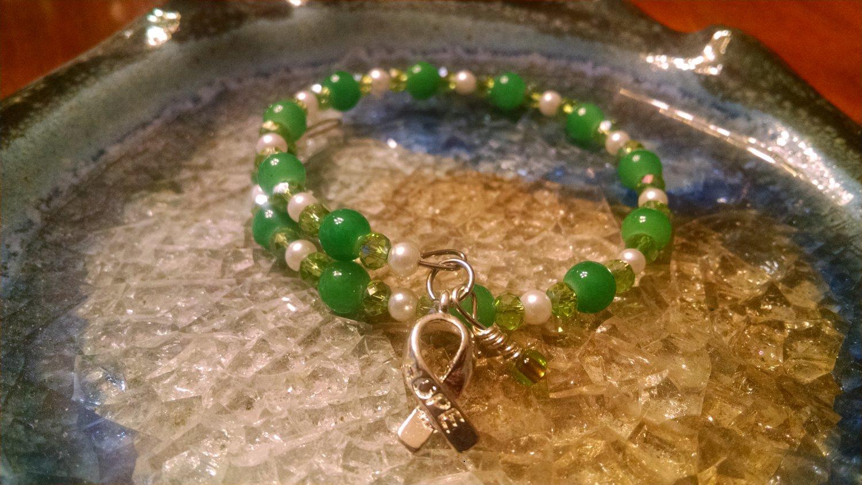 Courage [Green Awareness Bracelet w/Hope Charm] #493