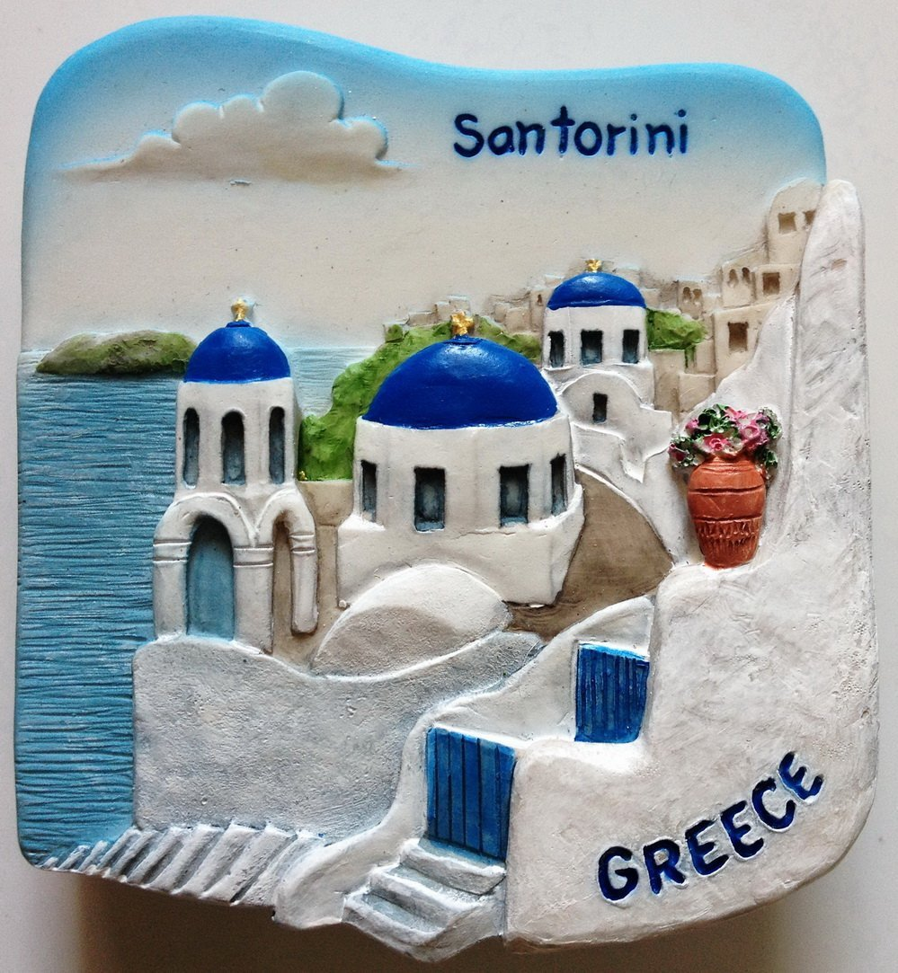 Santorini GREECE High Quality Resin 3D fridge magnet