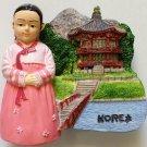 Korean Girl KOREA High Quality Resin 3D fridge magnet
