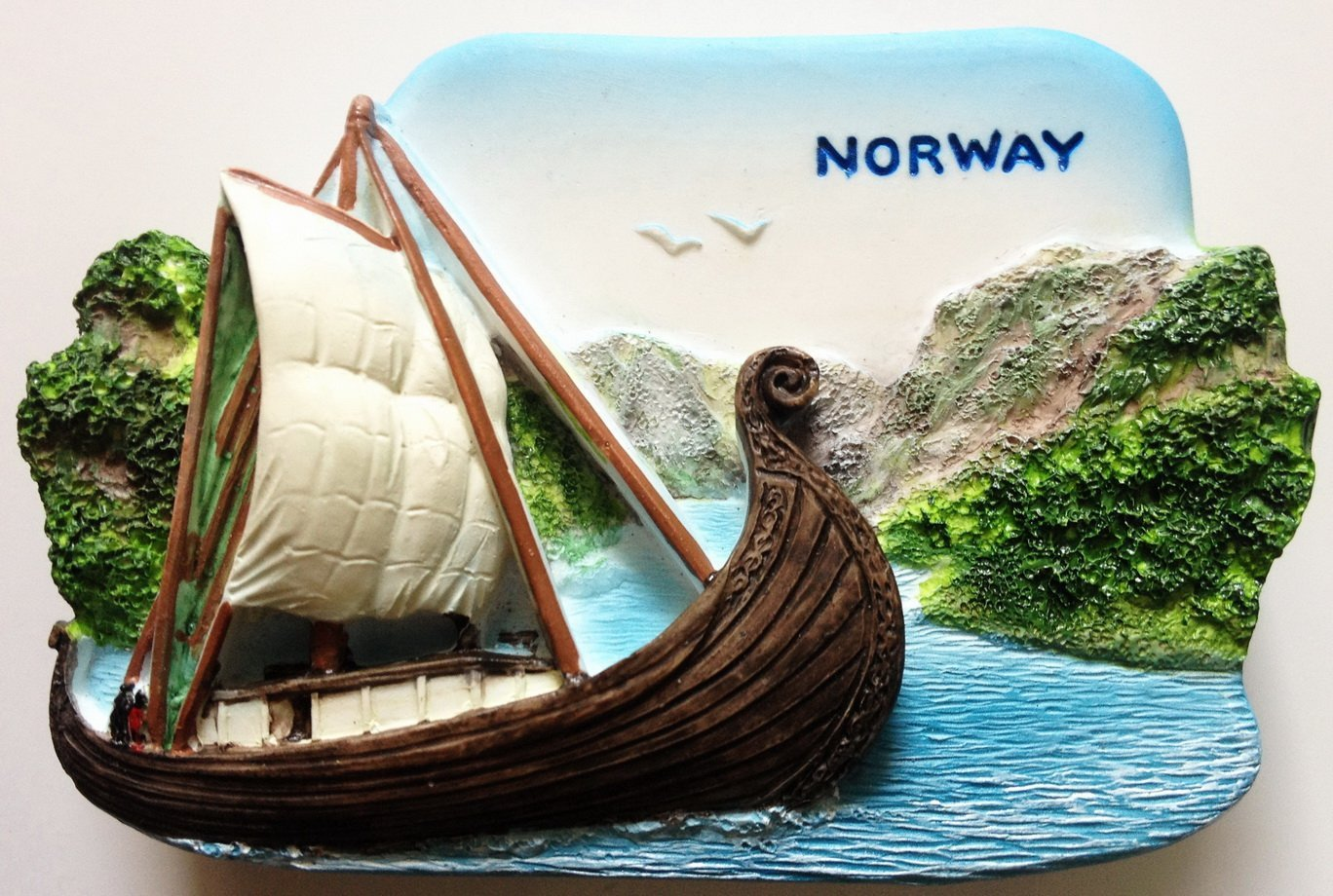 Viking Ship NORWAY High Quality Resin 3D fridge magnet