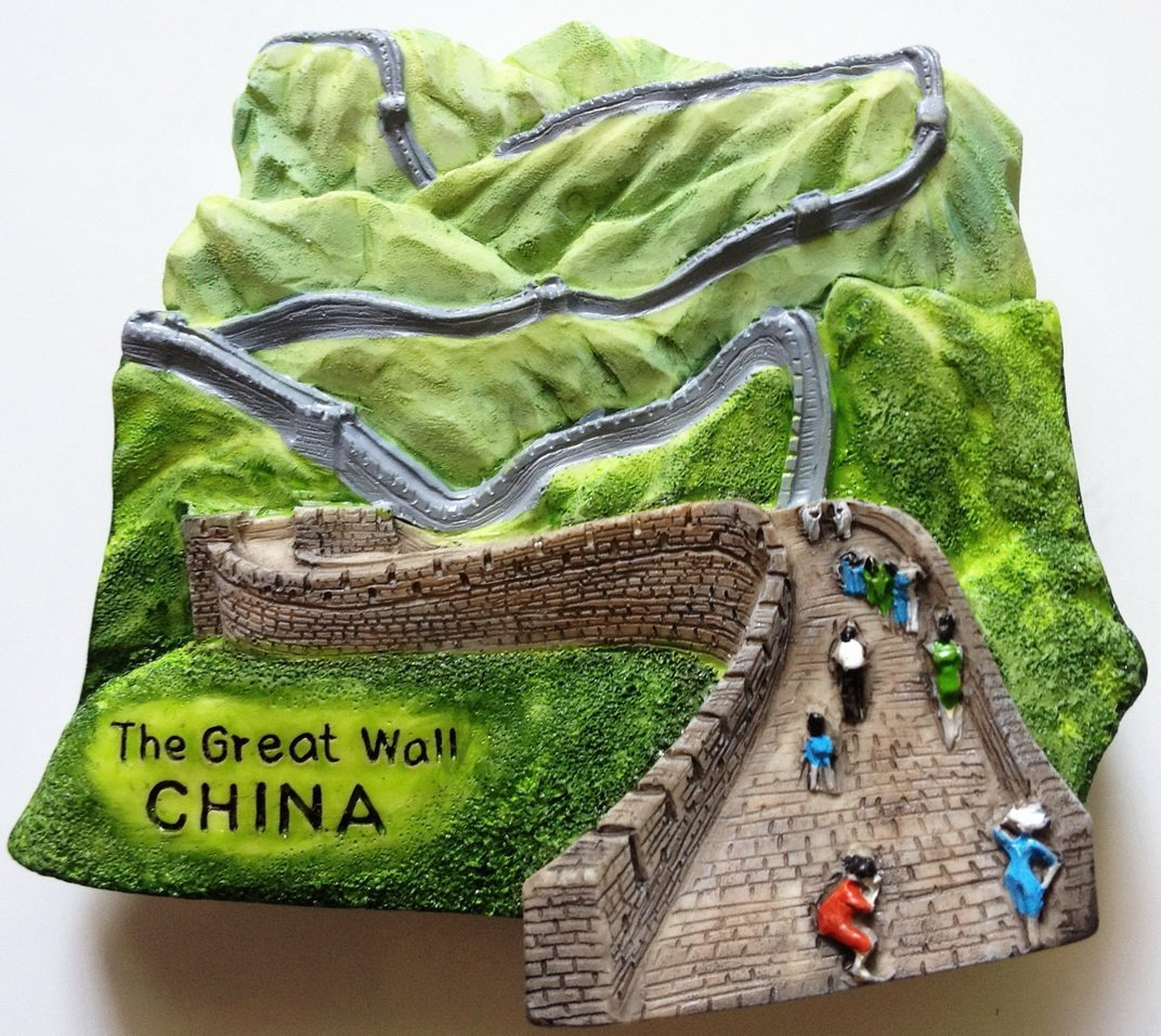 The Great Wall CHINA High Quality Resin 3D fridge magnet