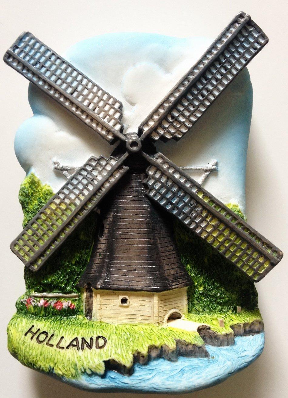 Dutch Wind Mill HOLLAND High Quality Resin 3D fridge magnet