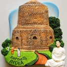 The Dhamekh Stupa Sarnath India High Quality Resin 3D fridge magnet