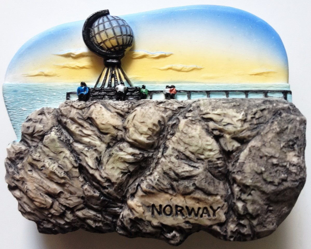 Midnight Sun North Cape NORWAY High Quality Resin 3D fridge magnet