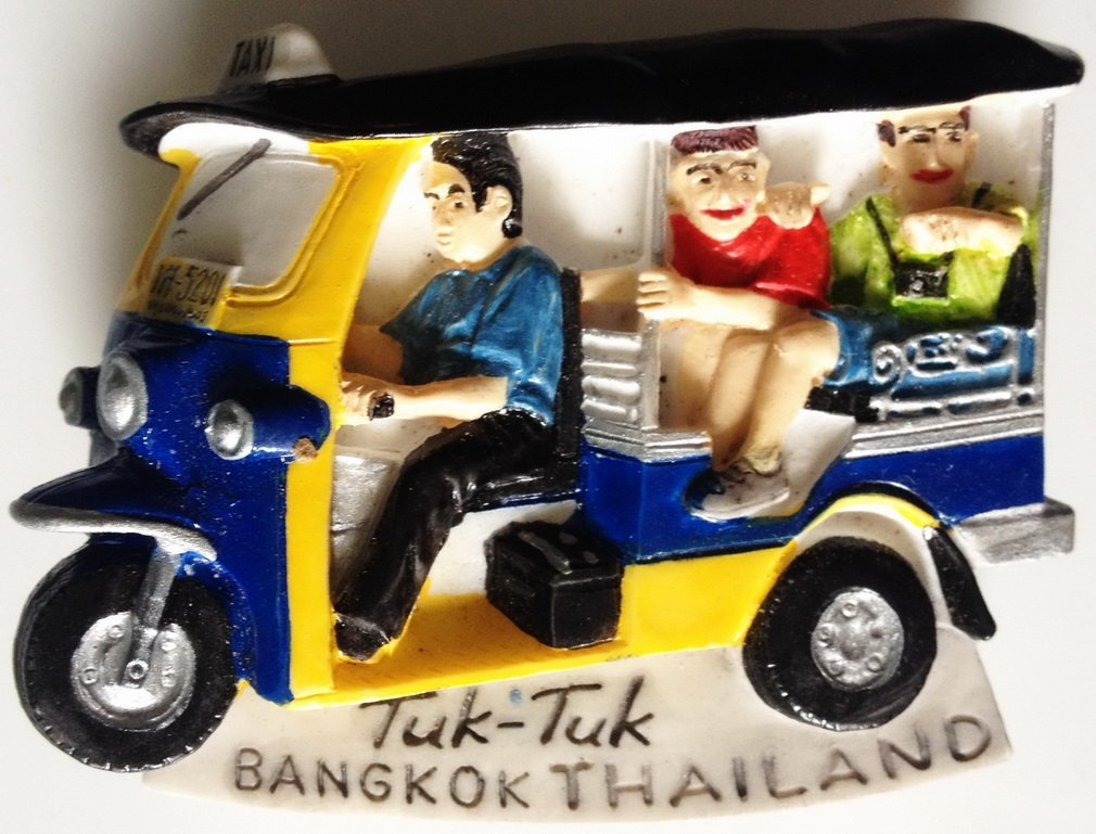 Tuk-Tuk TAXI Bangkok Thailand High Quality Resin 3D fridge magnet