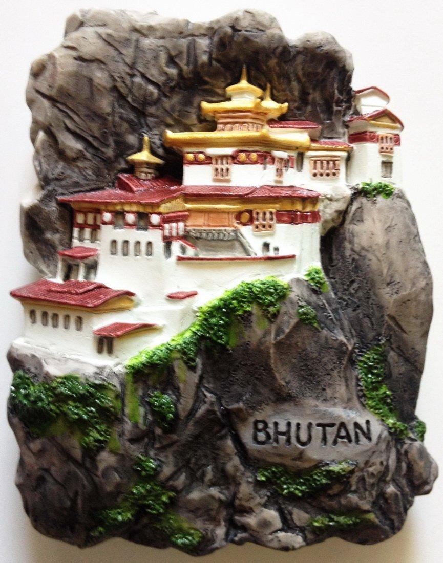 Tiger's Nest Monastery BHUTAN High Quality Resin 3D fridge magnet