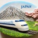 Japan Bullet Train Shinkansen and Mountain Fuji 3D fridge magnet