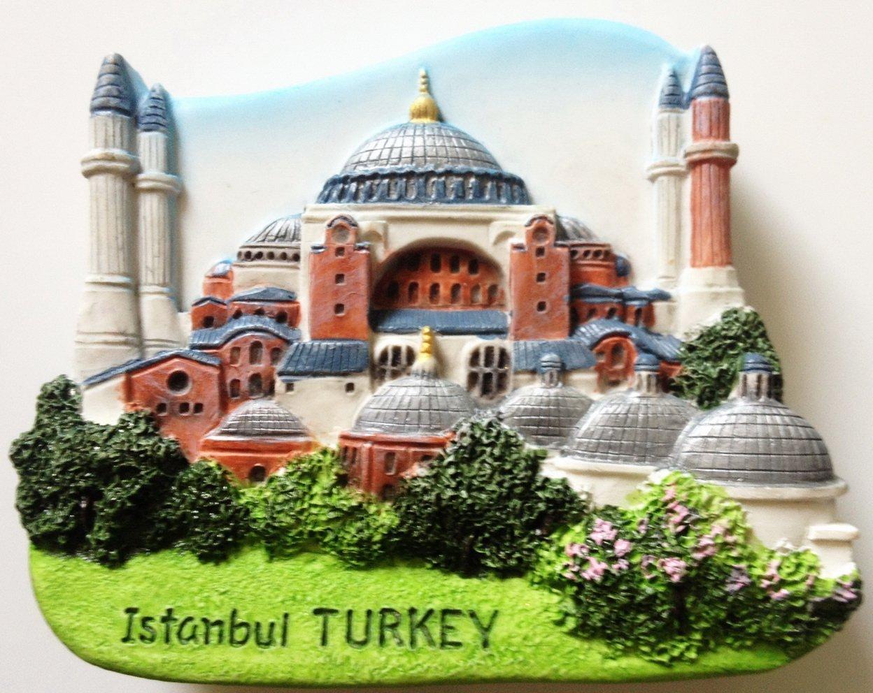 Hagia Sophia Istanbul TURKEY High Quality Resin 3D fridge magnet