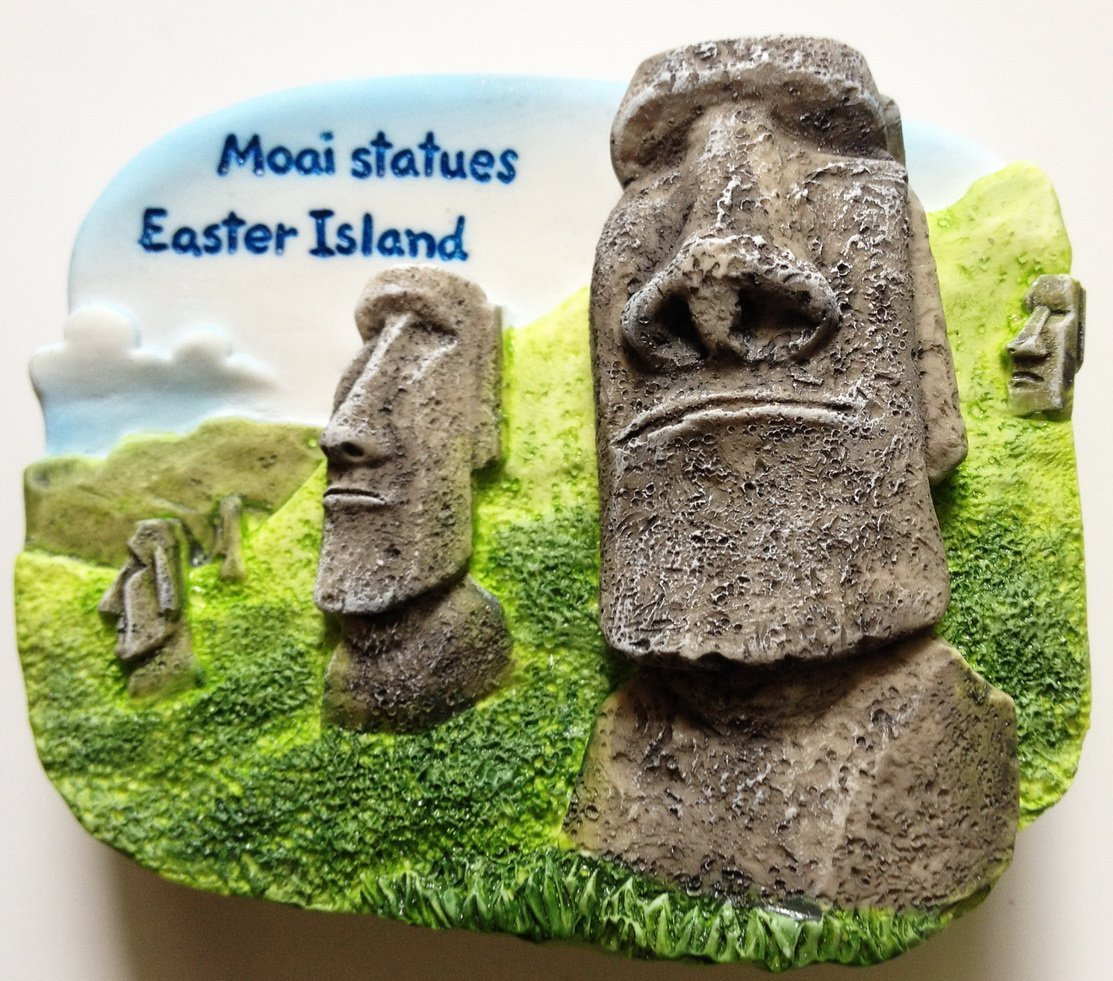 Moai statues EASTER ISLAND (Governed by Chile) 3D fridge magnet
