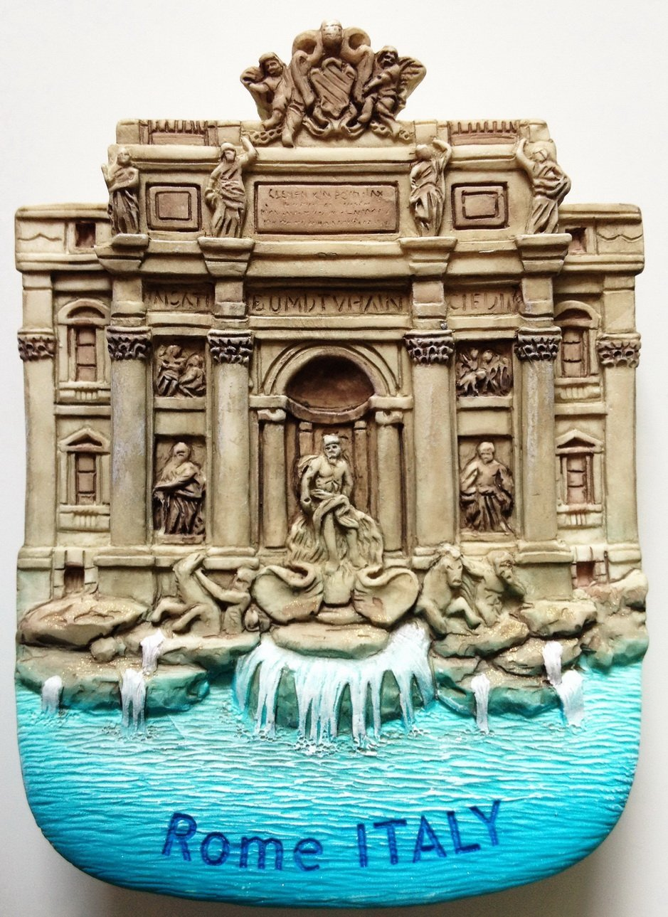 Trevi Fountain Rome Italy High Quality Resin 3D fridge magnet