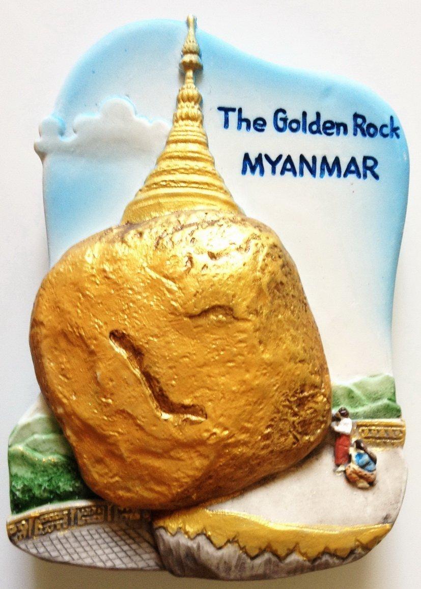 Kyaiktiyo Pagoda (Golden Rock Pagoda) Mon State Myanmar (Burma) 3D fridge magnet