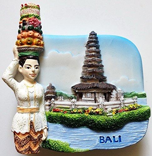 Pura Ulun Danau Temple by Lake Bratan BALI High Quality Resin 3D fridge magnet