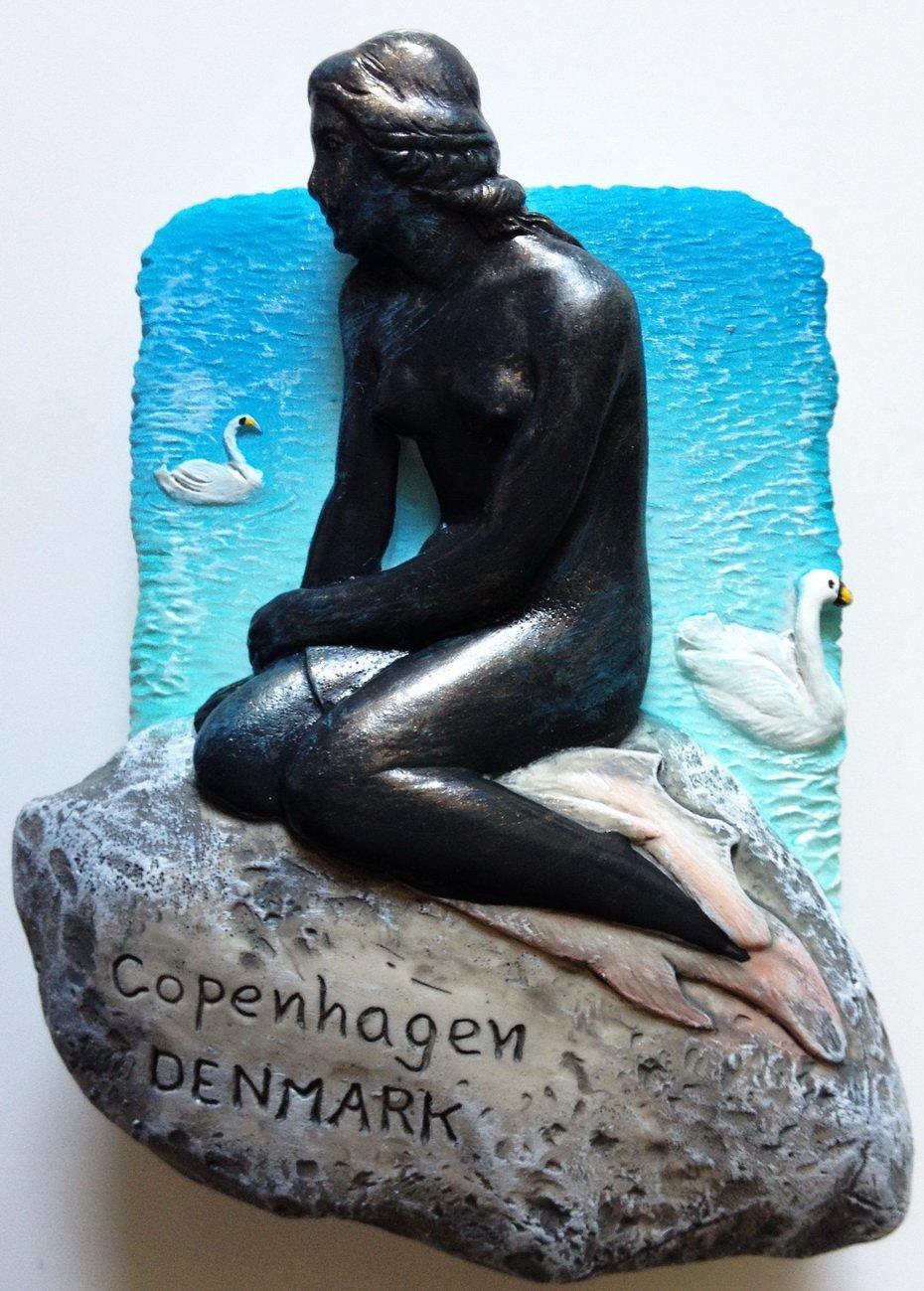 The Little Mermaid COPENHAGEN Denmark High Quality Resin 3D fridge magnet
