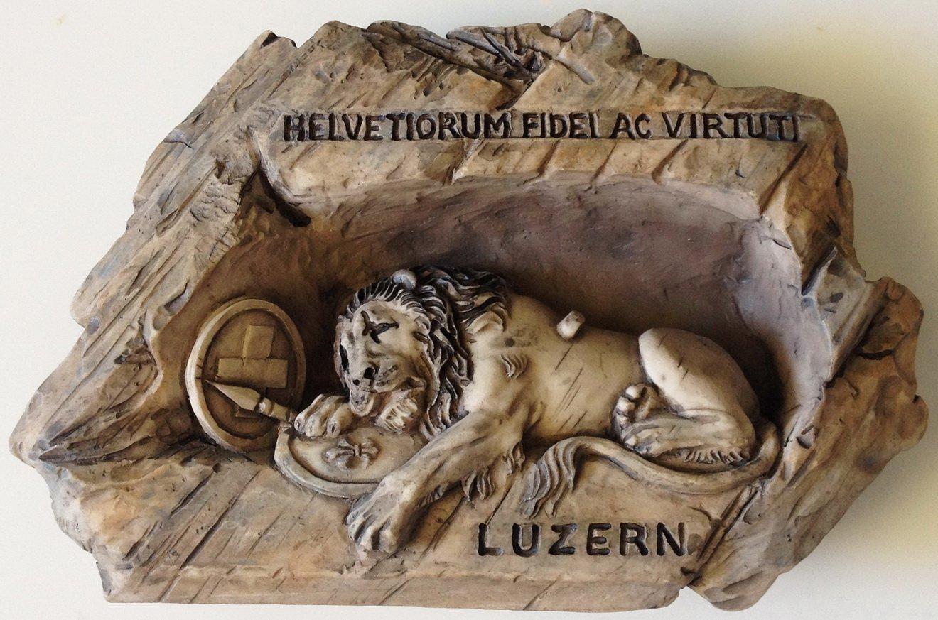 The Lion Monument Lucerne Switzerland High Quality Resin 3D fridge magnet
