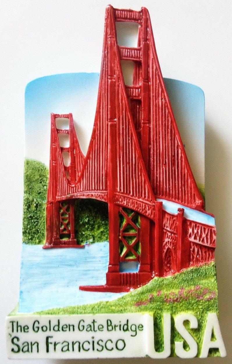 The Golden Gate Bridge SAN FRANCISCO High Quality Resin 3D fridge magnet