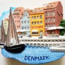 Nyhavn Harbor in Copenhagen Denmark High Quality Resin 3D fridge magnet