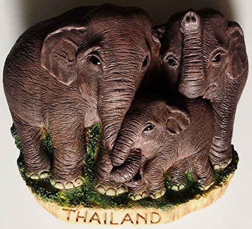Thai Elephant with family Thailand High Quality Resin 3D fridge magnet