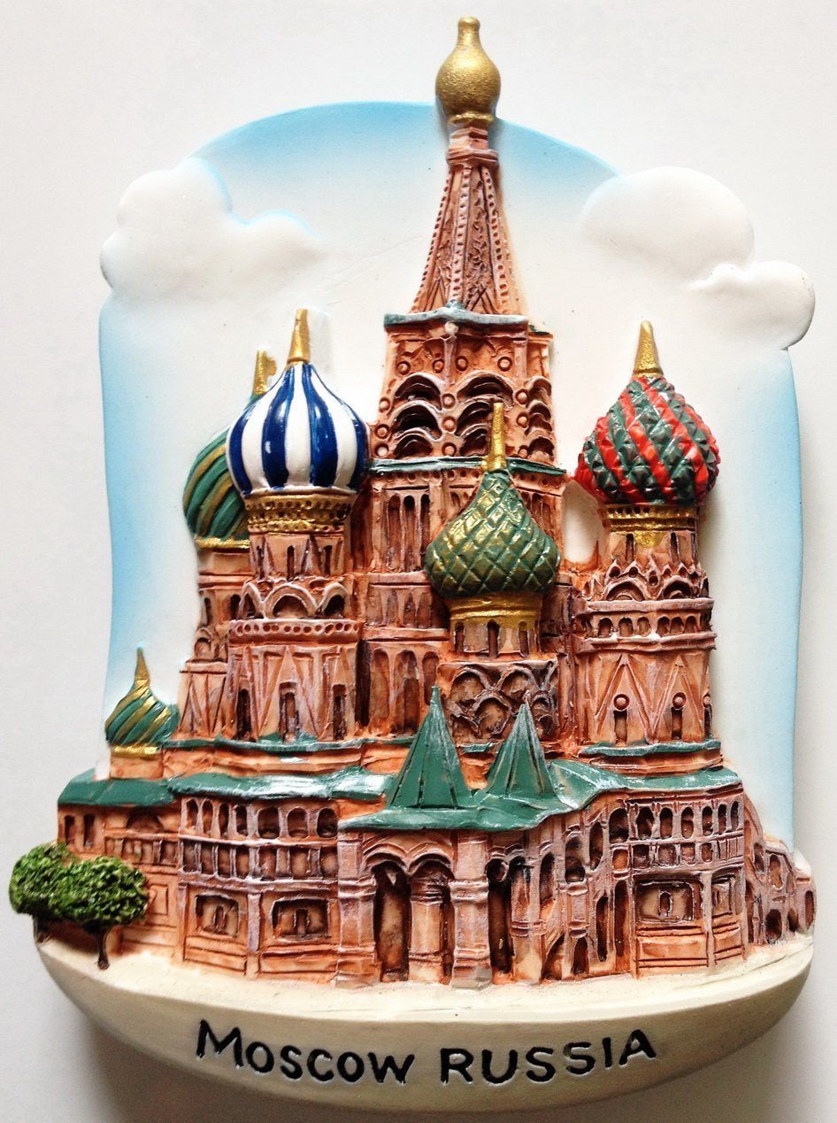 St.Basil's Cathedral MOSCOW Russia High Quality Resin 3D fridge magnet