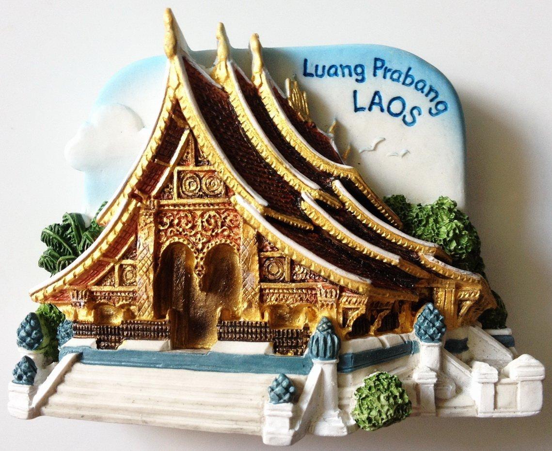 Wat Xieng Thong Luang Prabang LAOS High Quality Resin 3D fridge magnet