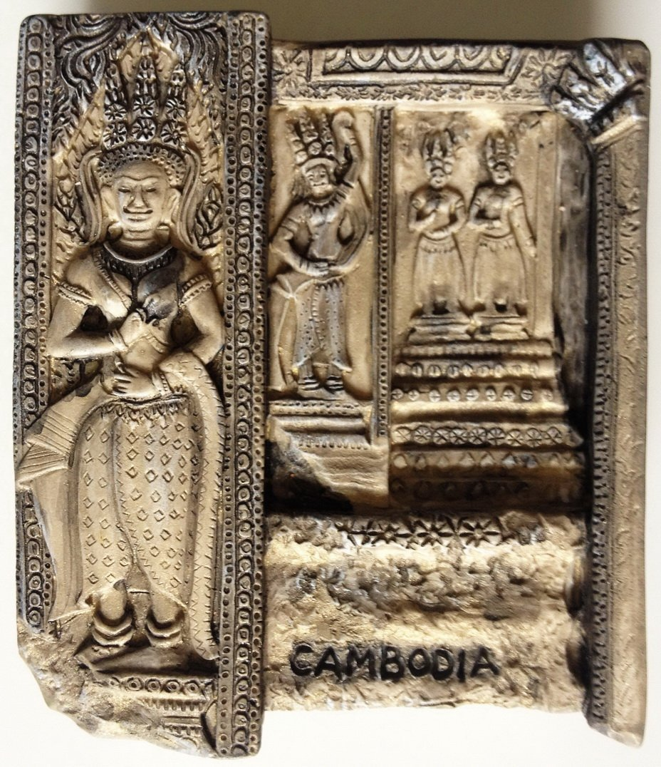 Angkor Wat Apsaras Cambodia Khmer High Quality Resin 3D fridge magnet
