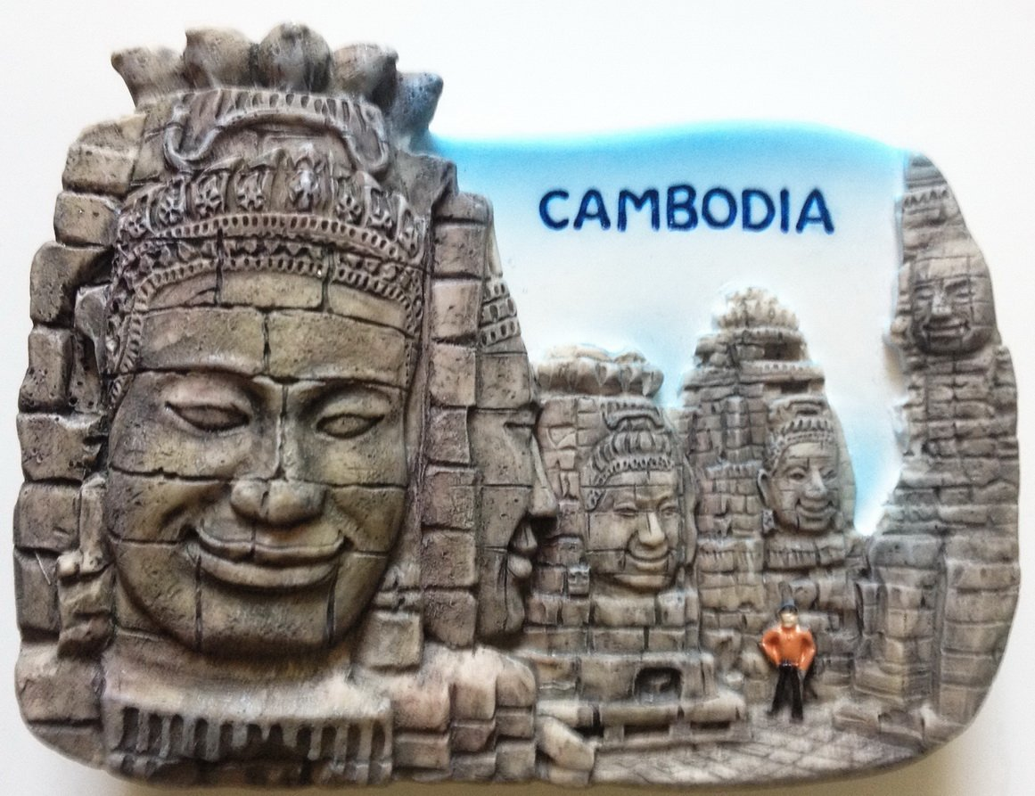 Bayon Cambodia Angkor Wat Temple High Quality Resin 3D fridge magnet