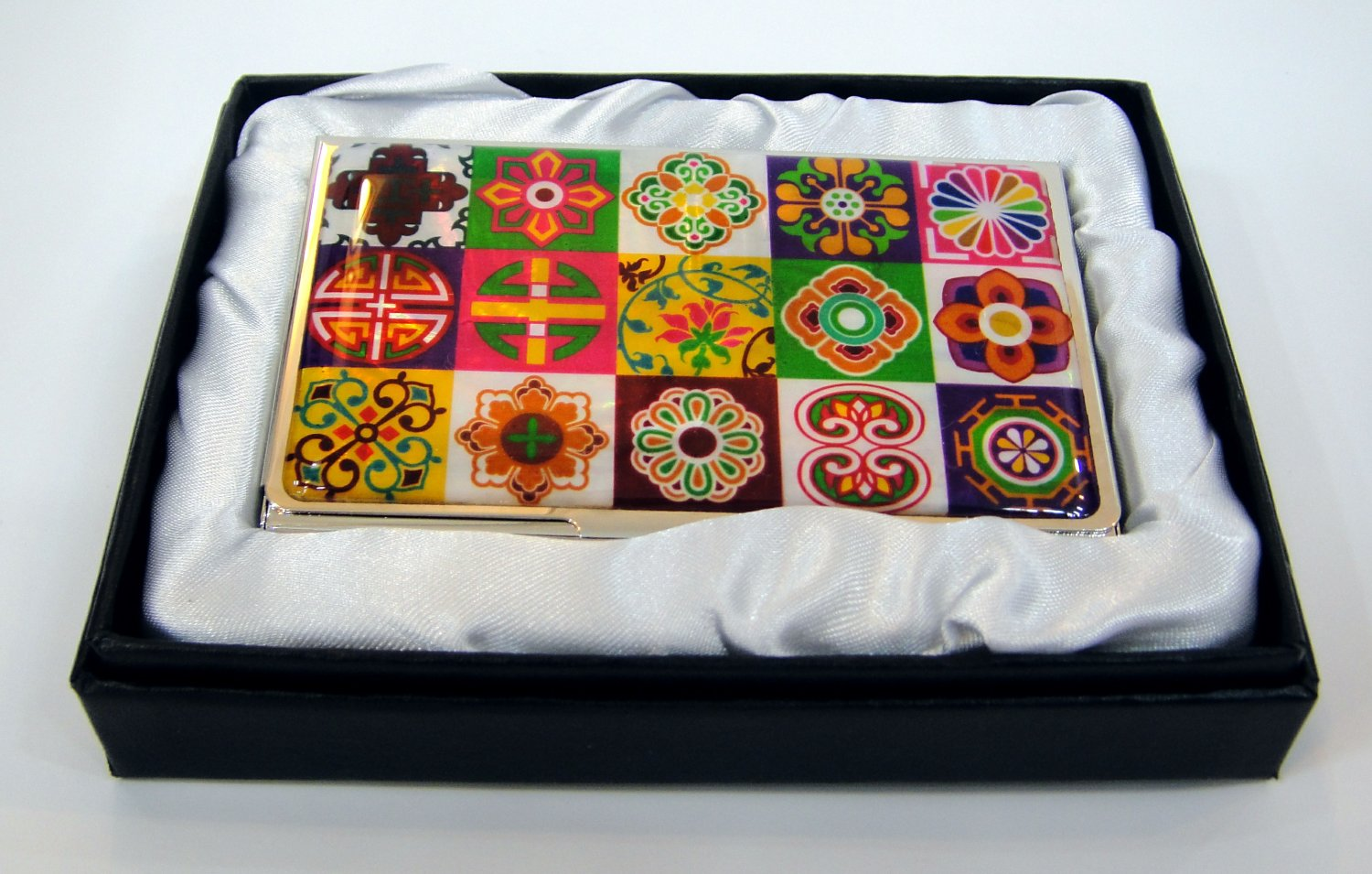 pretty namecard business card case holder unique Mother Of Pearl manufactured in korea a2