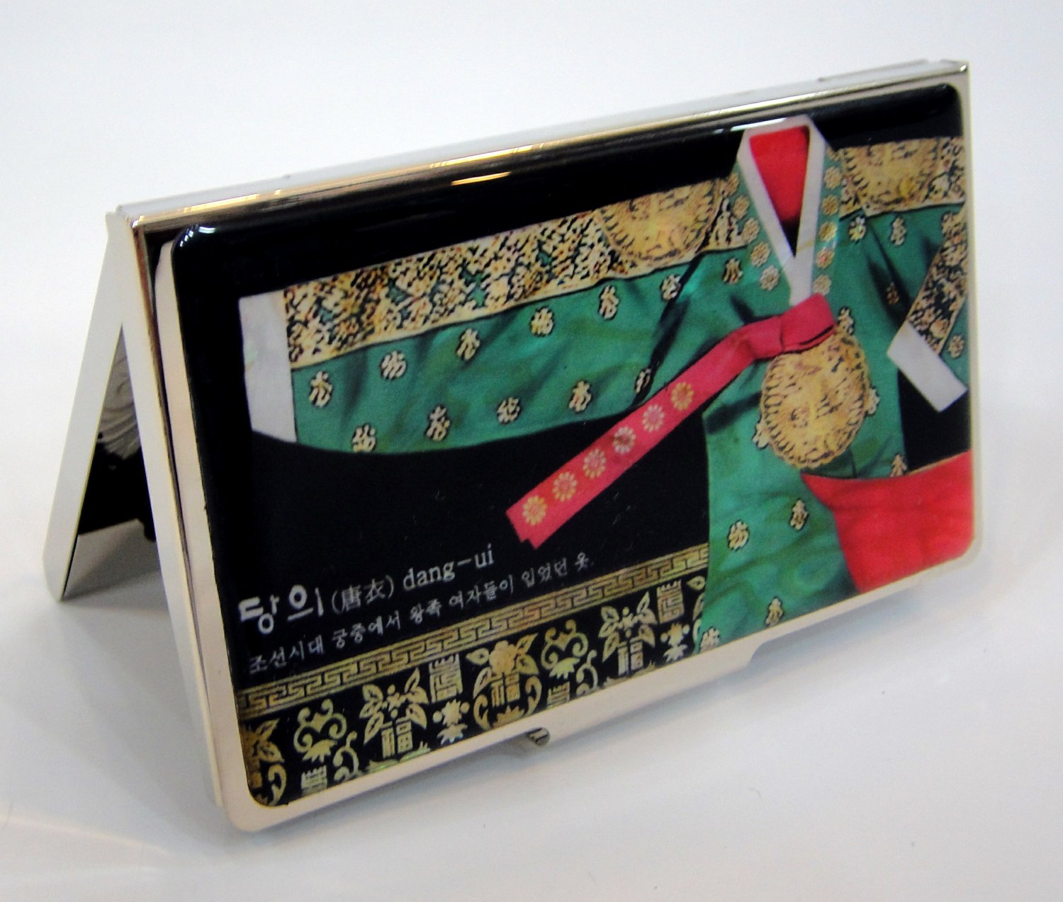 oriental business card holder christmas gift for father handcrafted with mother of pearl a14