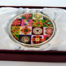 b4 oriental mother of pearl  lacquered pretty hand cosmetic mirror