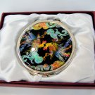 oriental mother of pearl  lacquered pretty hand cosmetic mirror b8
