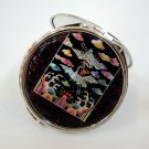 mother of pearl lacquered pretty cosmetic hand mirror b11