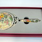 cosmetic long hand mirror mother of pearl lacquered crystal cubic c2