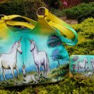 Genuine Leather Women's Handbag Vintage Hand Painted Shoulder Bag Top Handle Satchel Tote