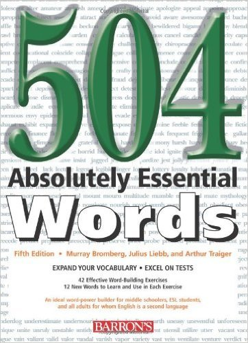 Buy 504 Absolutely Essential Words-ESL Books BARRONS-Buy College Books