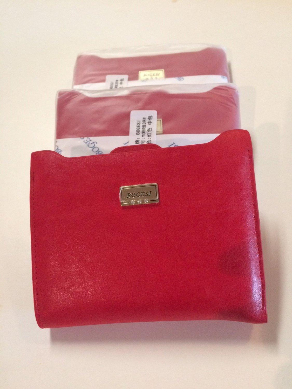 Women's wallet brand purses female  passport holder ID Card Case Zipper Coin Holder, RED