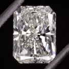 1.10ct G SI1 EGL-USA CERTIFIED RADIANT CUT DIAMOND RECTANGLE PRINCESS 1 CARAT