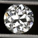 VINTAGE OLD EUROPEAN CUT DIAMOND GIA CERTIFIED J SI2 LOOSE 0.85ct ANTIQUE ROUND