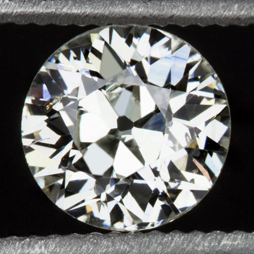 NATURAL OLD EUROPEAN CUT 1/2ct LOOSE 5mm DIAMOND I SI1 ANTIQUE OEC VINTAGE ROUND