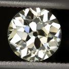 GIA CERTIFIED 1ct VS1 VINTAGE OLD EUROPEAN CUT DIAMOND MINE ANTIQUE ART DECO 20s