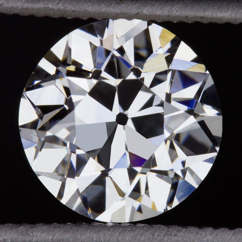 GIA CERTIFIED E VVS2 1.27ct VINTAGE OLD EUROPEAN CUT DIAMOND ANTIQUE ENGAGEMENT