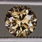 NATURAL FANCY CHAMPAGNE C7 COGNAC LOOSE ROUND DIAMOND 1/2ct ENGAGEMENT 0.52ct