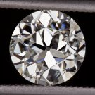 1.24ct VINTAGE ROUND DIAMOND EGL-USA CERTIFIED H SI1 ANTIQUE OLD EUROPEAN CUT